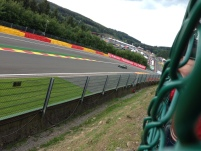 Andre Lotterer rounds Raidillon
