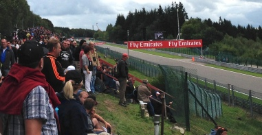 The Kemmel Straight; source of many overtaking moves