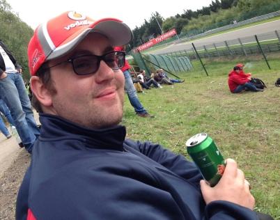 Uncle Steve enjoying a lager