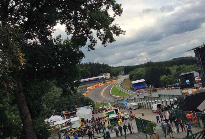 Another shot of the awesome Eau Rouge