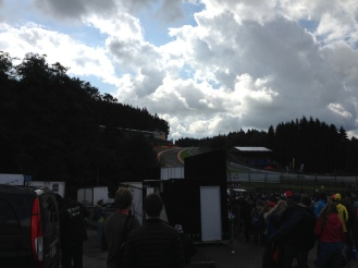 Eau Rouge looking slightly more foreboding.