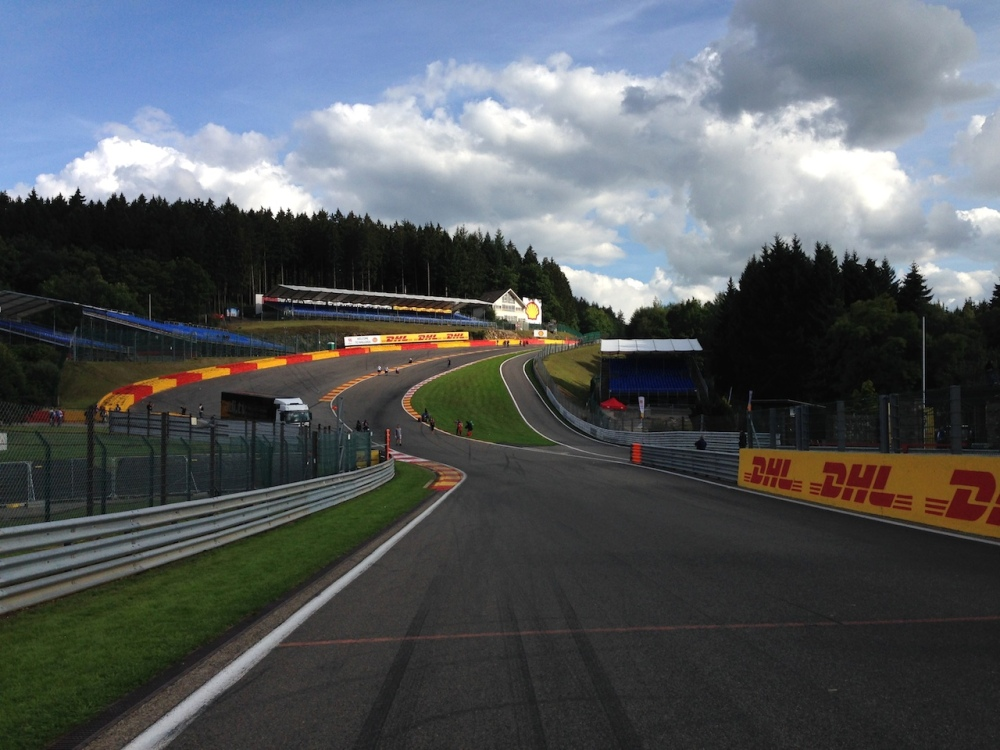 A parting shot of Eau Rouge.