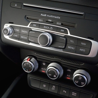 Knurled aluminium dials for climate control