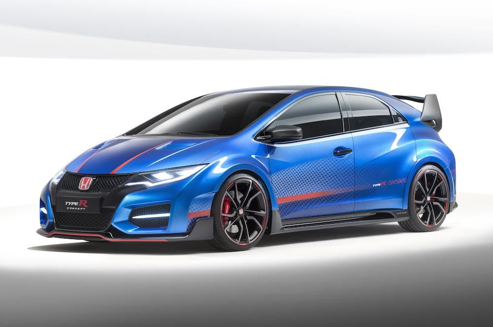 Blue Honda Civic Type R Concept 001