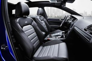Optional carbon leather trim shown here