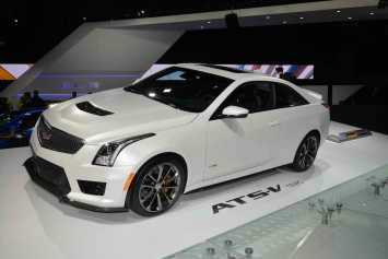 Cadillac had two V models on display; this is the ATS Coupe