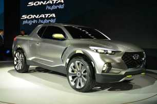 Slightly left field, but Hyundai's Santa Cruz pickup concept is quite cool