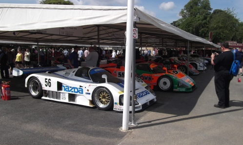 Mazda 757 and Mazda 787B Goodwood