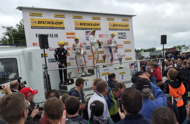 BTCC 2015 Croft Race One Podium