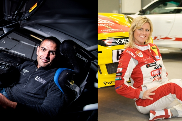 Chris Harris and Sabine Schmitz