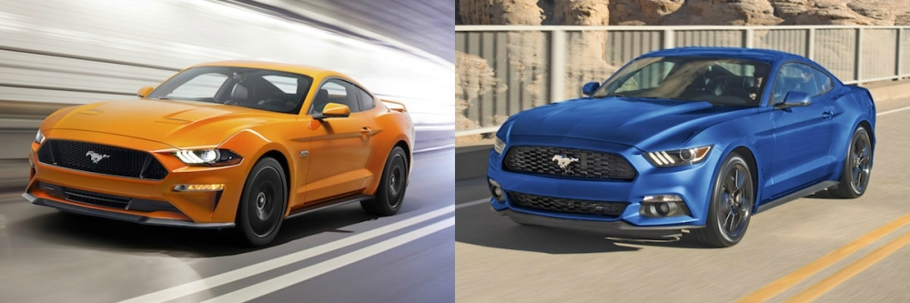 Spot the difference. 2018 model year is on the left.